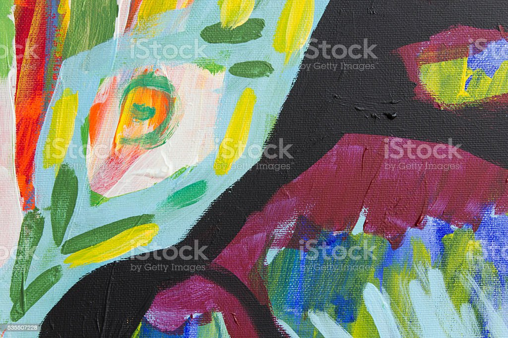 Abstract Acrylic Painted Background stock photo