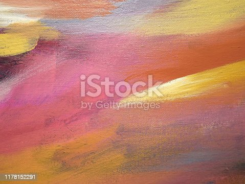 istock Abstract acrylic painting  background. 1178152291