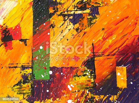 istock Abstract acrylic painting 954569244
