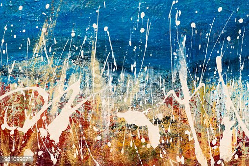 istock Abstract Acrylic Painting Textured Background 931099672
