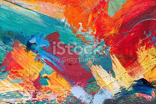istock Abstract Acrylic Painting Textured Background 931099940