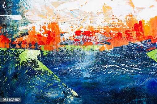 istock Abstract Acrylic Painting Textured Background 931102462