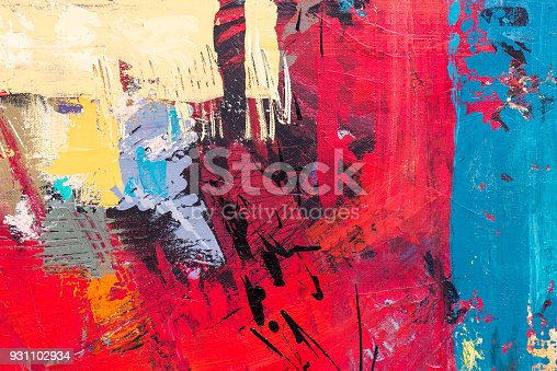 istock Abstract Acrylic Painting Textured Background 931102934
