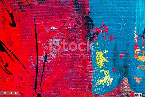 istock Abstract Acrylic Painting Textured Background 931106148