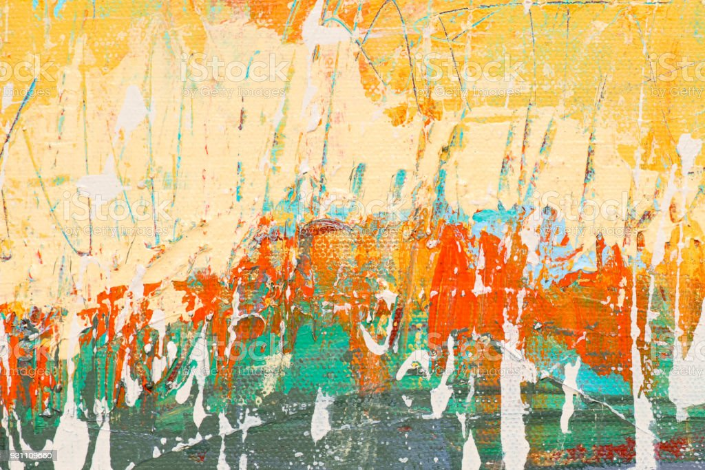Abstract Acrylic Painting Textured Background Stock Photo More