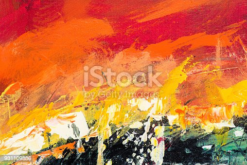 831487596 istock photo Abstract Acrylic Painting Textured Background 931109886