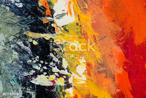 istock Abstract Acrylic Painting Textured Background 931110016