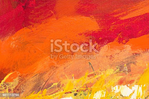 istock Abstract Acrylic Painting Textured Background 931113294