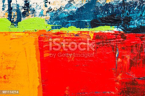 istock Abstract Acrylic Painting Textured Background 931114214