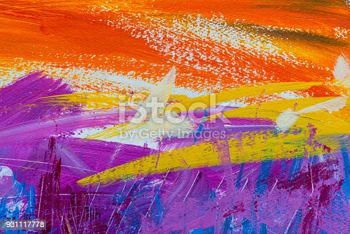 831487596 istock photo Abstract Acrylic Painting Textured Background 931117778