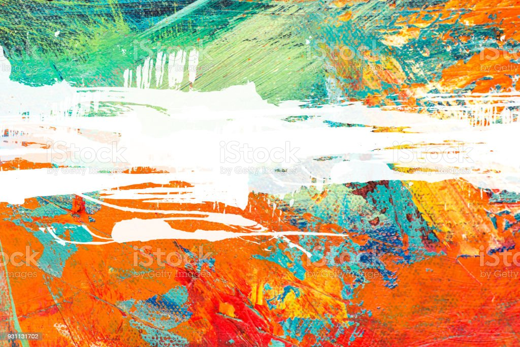 Abstract Acrylic Painting Textured Background stock photo