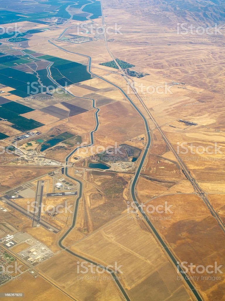 abstract aerial landscape royalty-free stock photo