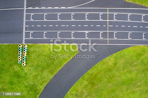 Abstract aerial view of abandoned Go-Cart track