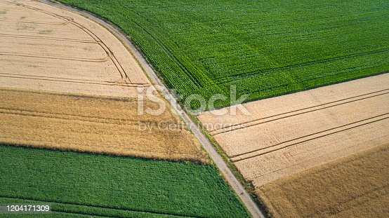 Abstract agricultural fields - aerial view