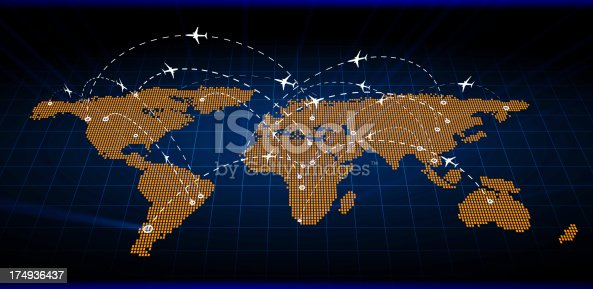 istock Abstract Air Map traffic 174936437