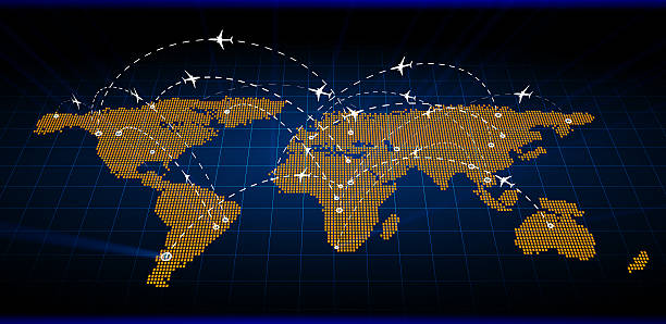 Abstract Air Map traffic stock photo