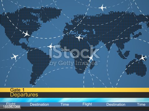 174936437 istock photo Abstract airlines schedule and traffic 155362088