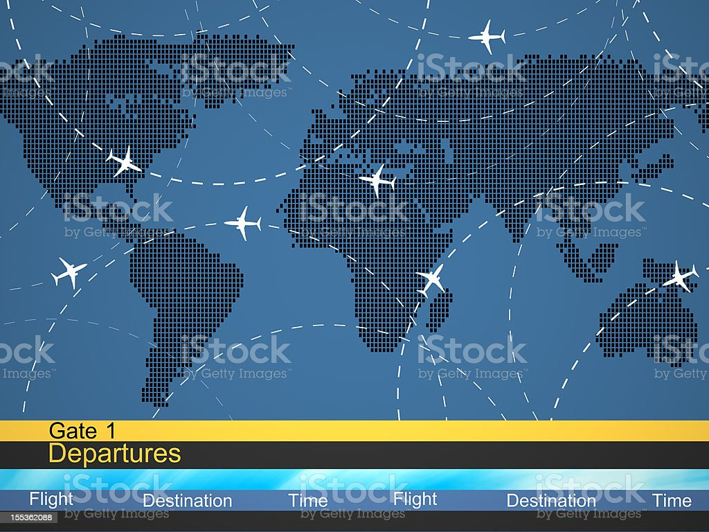 Abstract airlines schedule and traffic stock photo
