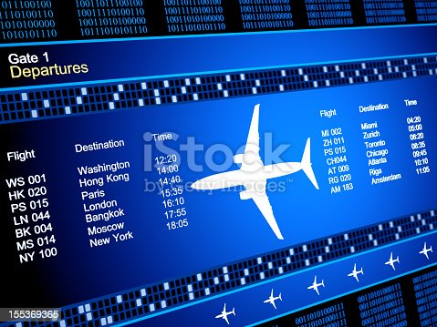 174936437 istock photo Abstract airlines schedule and traffic 155369365