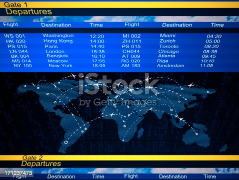 174936437 istock photo Abstract airlines schedule and traffic 171237473