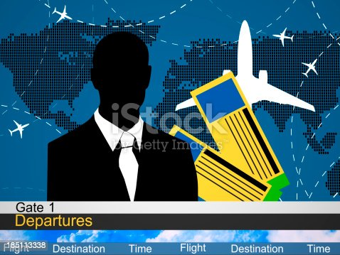 174936437 istock photo Abstract airlines schedule and traffic 185113338