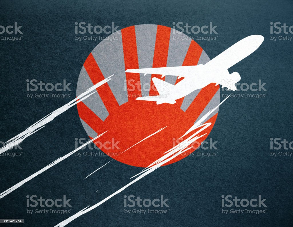 Abstract airplane doodle stock photo