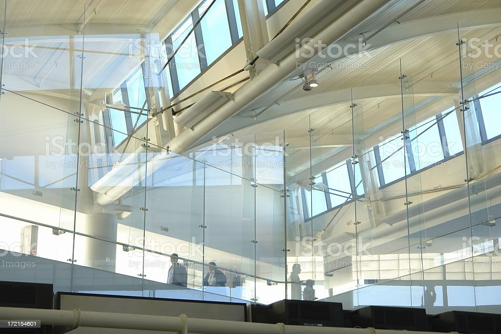 Abstract Airport Architecture Glass Pattern royalty-free stock photo