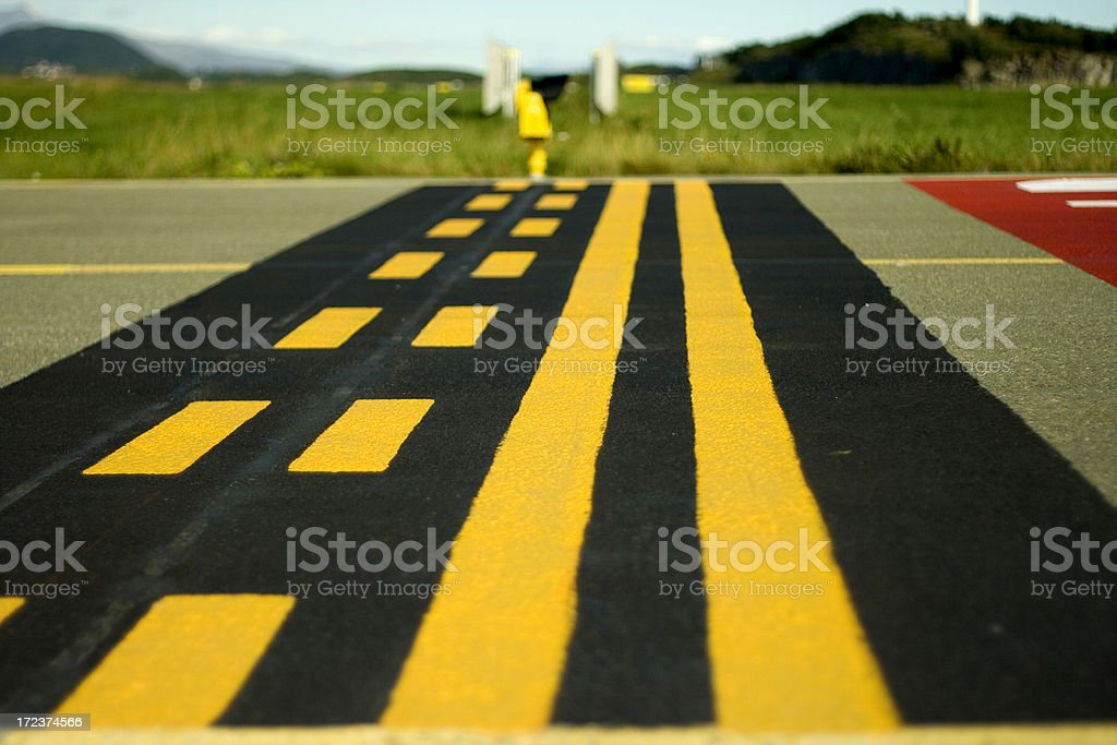 Abstract airport marking stock photo