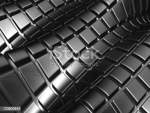 istock Abstract aluminium silver square 120800643
