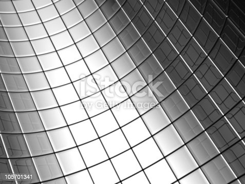 istock Abstract aluminum curve square pattern background 105701341