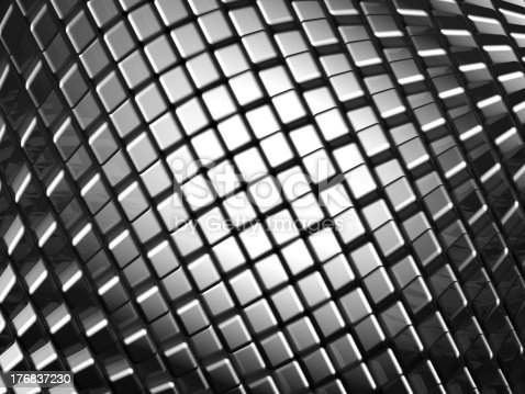 istock Abstract aluminum dynamic cube background 176837230