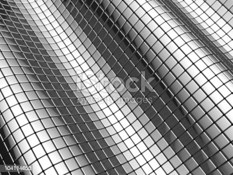 istock Abstract aluminum shiny square background 104114653