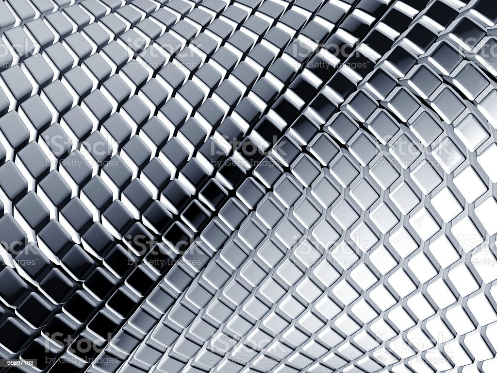 Abstract aluminum square background royalty-free stock photo