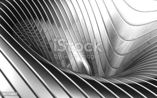 istock Abstract aluminum wave pattern 94749967