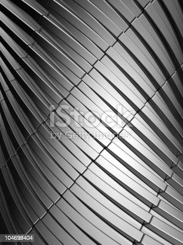 istock Abstract aluminum wavy stripes background 104699404