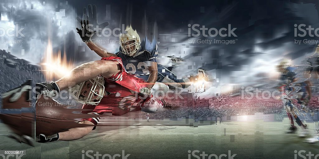 Abstract American Football Action stock photo