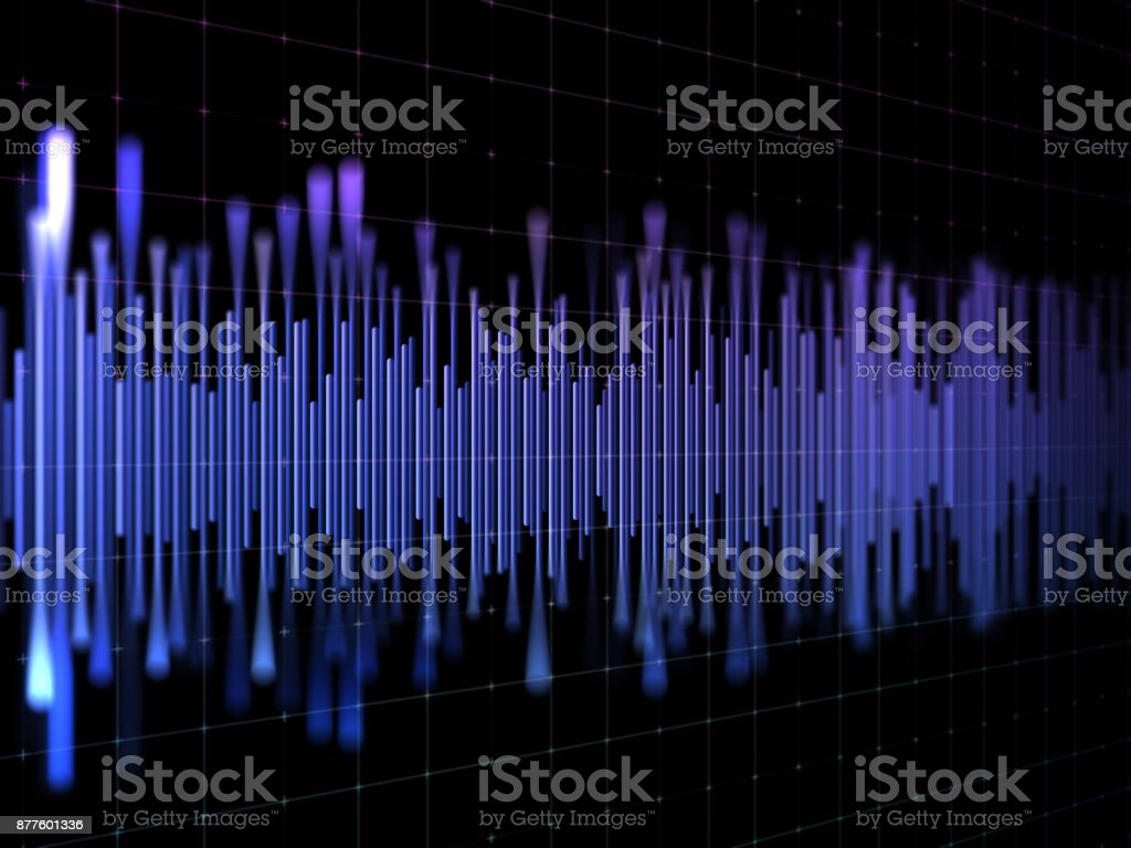 Abstract analyzing and equalizer stock photo