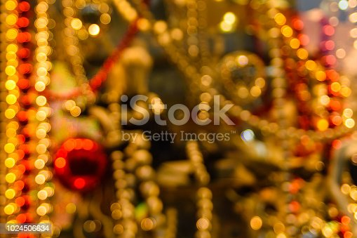 857847778 istock photo Abstract and blurred background of christmas decorations 1024506634