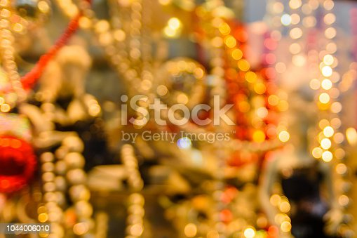 857847778 istock photo Abstract and blurred background of christmas decorations 1044006010
