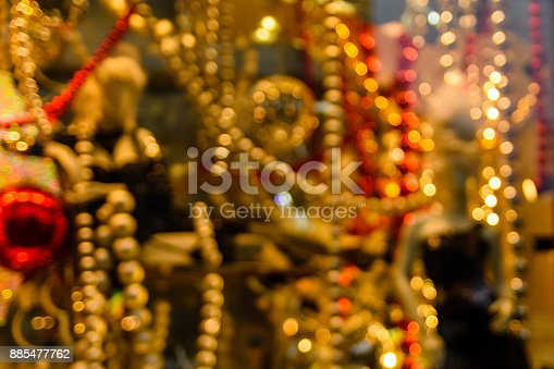 857847778 istock photo Abstract and blurred background of christmas decorations 885477762