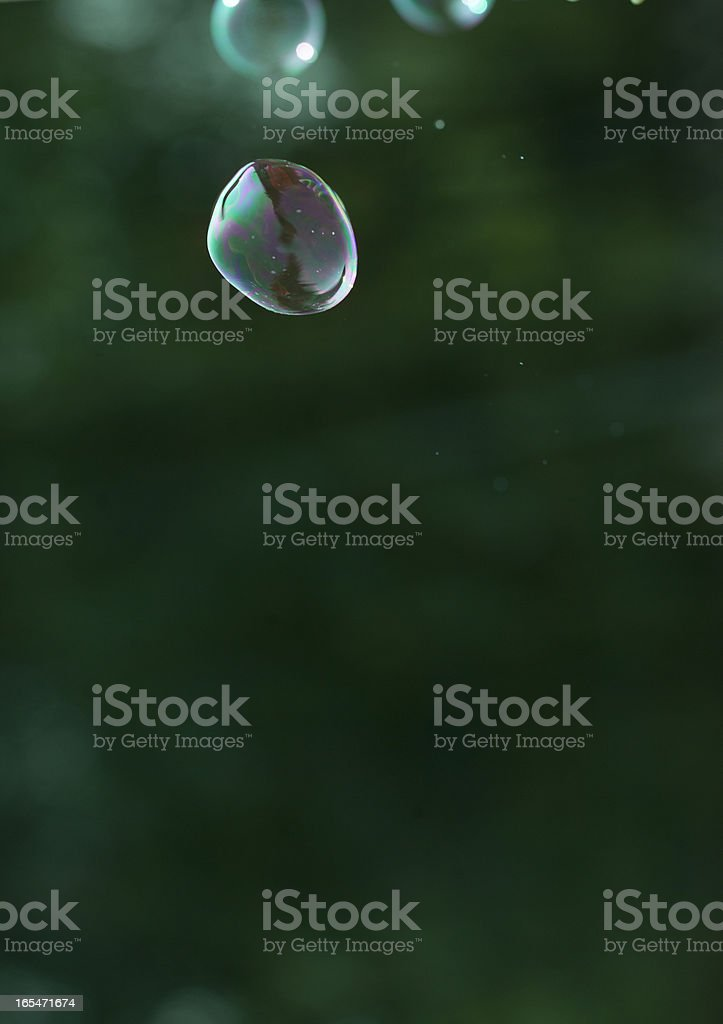 Abstract and blurred soap bubble royalty-free stock photo