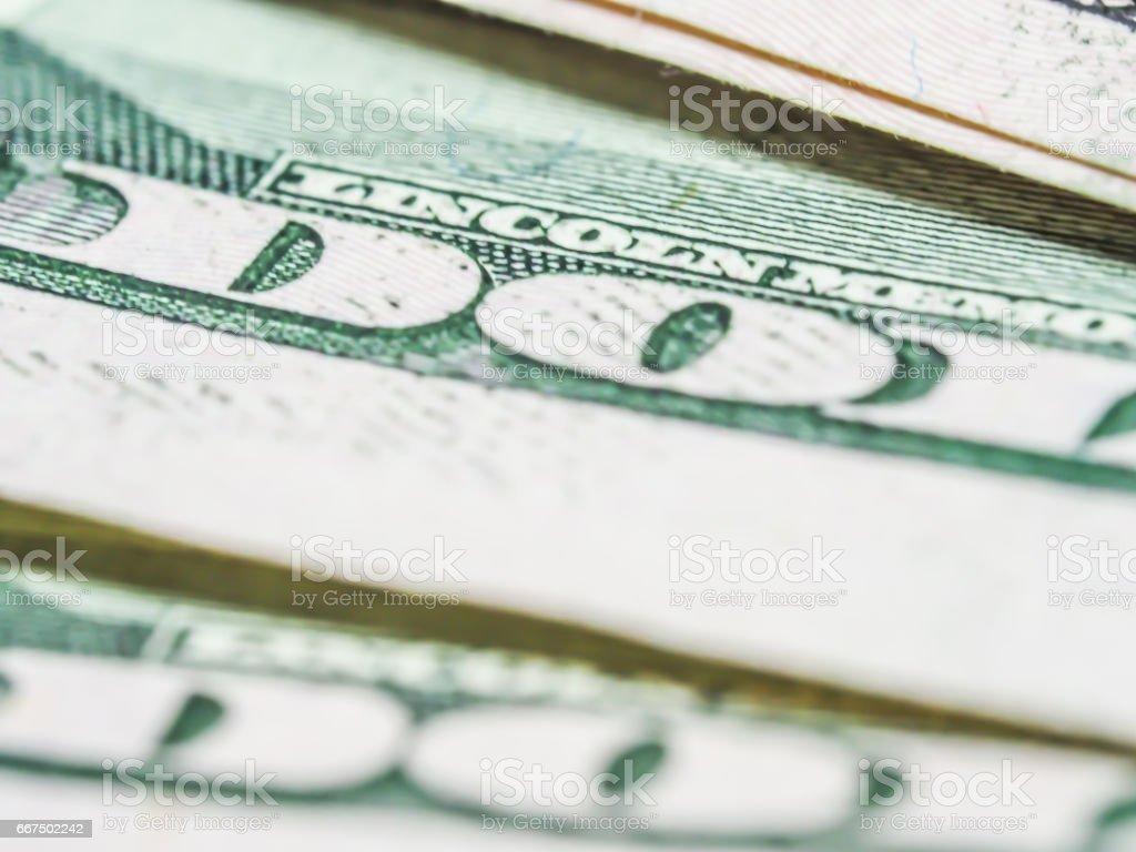 Abstract and closeup of dollar bill. foto stock royalty-free