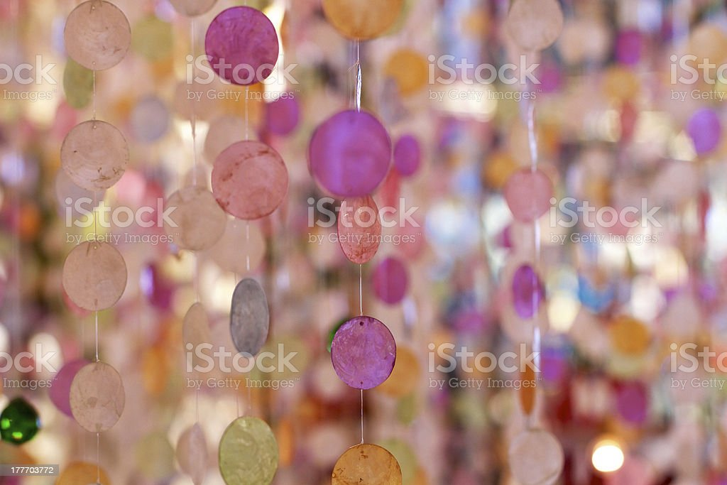 Abstract and colorful curtain royalty-free stock photo