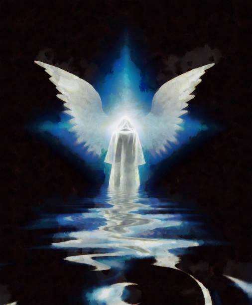 Abstract angelic figure stock photo