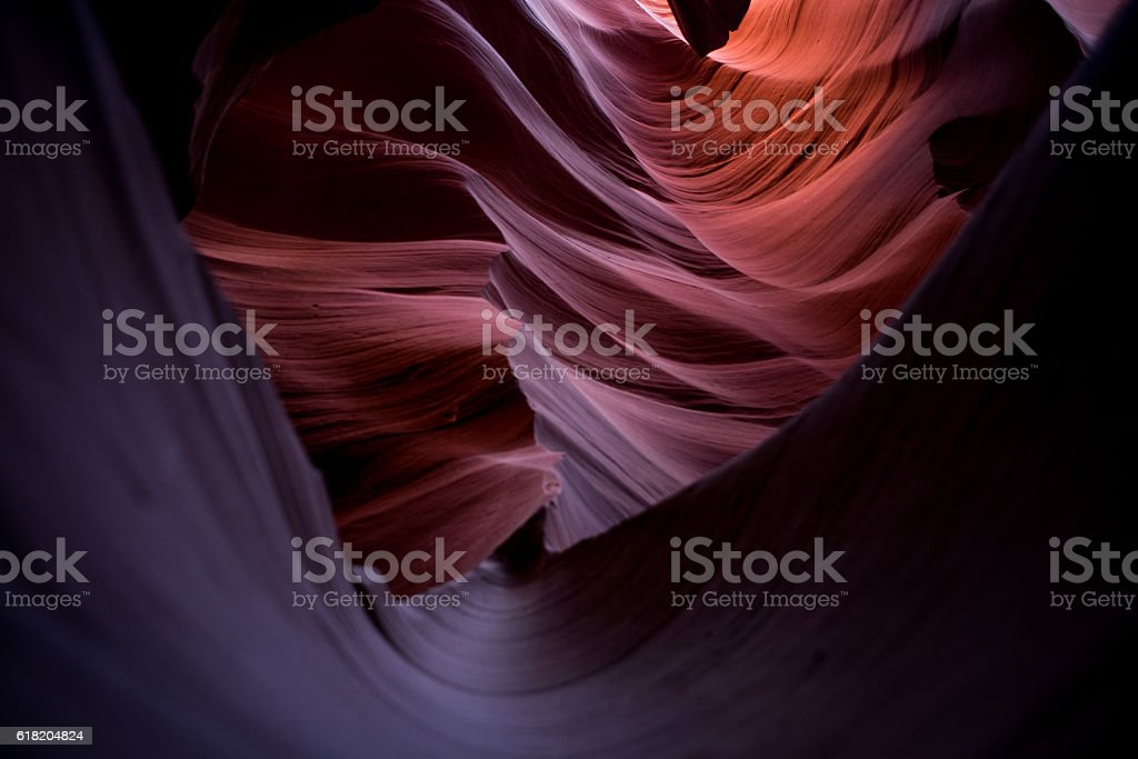 Abstract Antelope Canyon in Page, Arizona USA stock photo