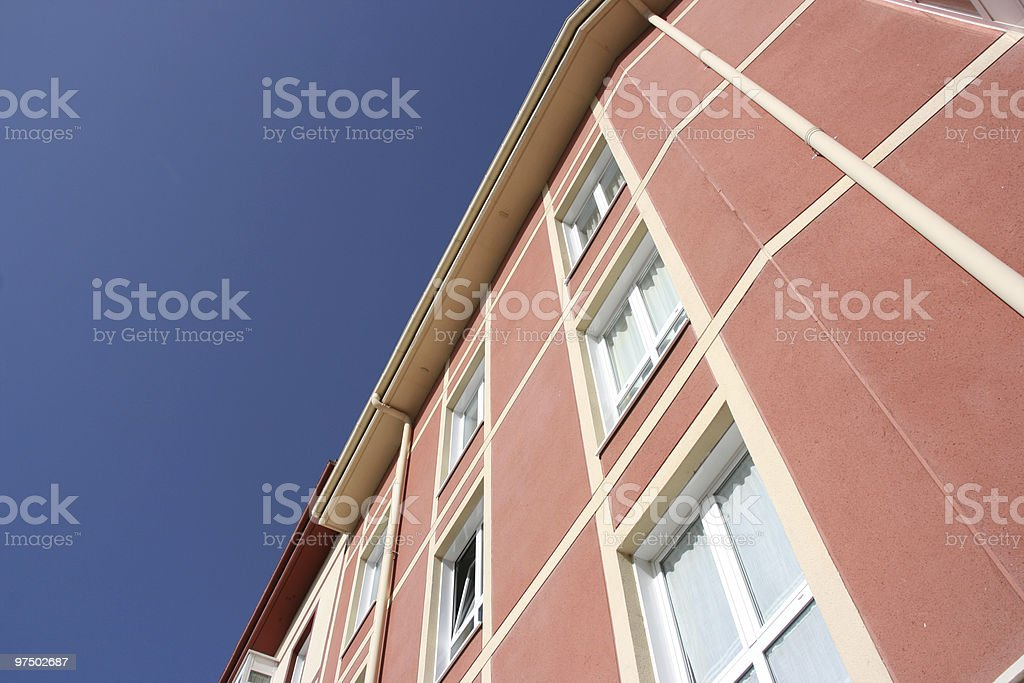 Abstract apartment building royalty-free stock photo