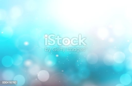 istock Abstract aqua blue blurred bokeh background. 530416762