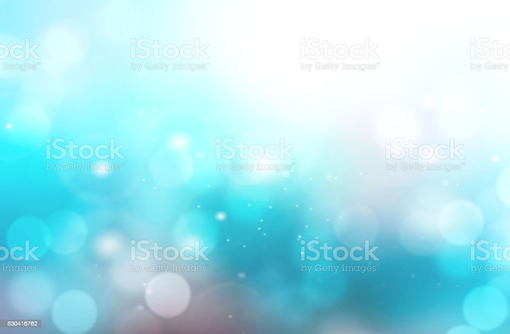 Abstract aqua blue blurred bokeh background. stock photo