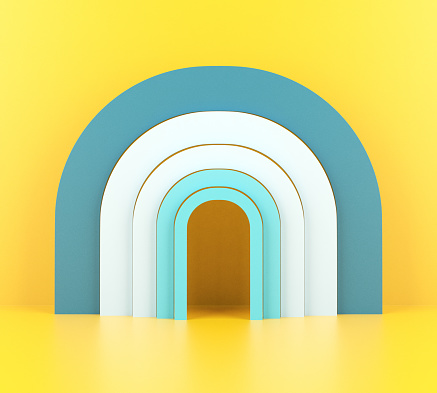 Abstract Arch, Colorful Background for Product Display