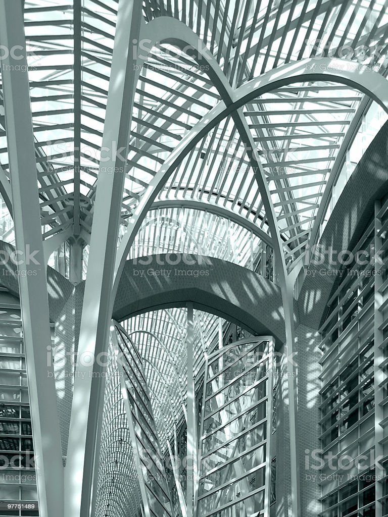 abstract architectural back in Toronto royalty-free stock photo